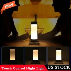 3 Modes Touch Table Lamp Desk Bedside Night Light Bedroom Nightstand Home Decor $18.59