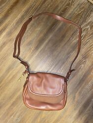 Fossil Leather Crossbody Brown  $12.20