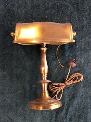 Antique Original Brass BankersLibrary Desk Lamp $120.00