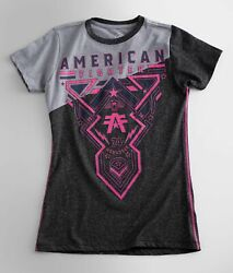 American Fighter by Affliction Short Sleeve T Shirt Womens HARTSDALE Gray $19.95