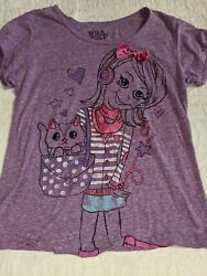 Fifth Sun girls sz. 14 16 purple girl on bike w cate tee. Cute comfortable $7.50