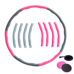 Collapsible 1Kg Weighted Hula Hoop Fitness Padded Abs Exercise Gym Workout Hoola $41.99
