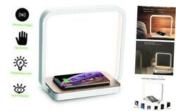 Bedside Lamp Qi Wireless Charger LED Desk Lamp with Touch Control 3 Light HuesT $47.90