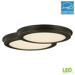 Commercial Electric 13quot; Oil Rubbed Bronze LED Ceiling Flush Mount 2 Pack