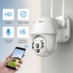 2MP Wireless Wifi IP Camera 1080P PTZ Outdoor Dome Security Camera Pan Tilt Cam $33.99