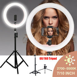 LED Ring Light Dimmable Lamp Phone Photo Video Studio Tripod Selfie Stand Camera $13.99