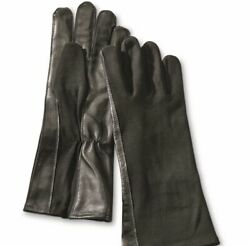 Black GI Syle Flight Gloves. Fox Outdoor Products. Sheepskin Leather. Large. $24.99