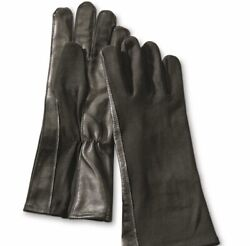 Black GI Syle Flight Gloves. Fox Outdoor Products. Sheepskin Leather. XL $17.99