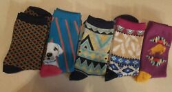5 PAIR WOMEN Sock Hosiery Women Novelty Fashion Cotton Stretch Socks NEW $2.19