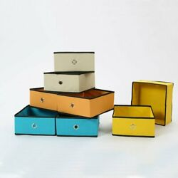 US 8 Pack Foldable Storage Boxes Cube Basket Drawers Organizer Beige Durable  $20.99