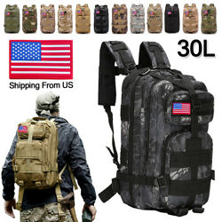 30L Military Tactical Rucksack Backpack Daypack Bag Hiking Camping Outdoor Sport $22.79