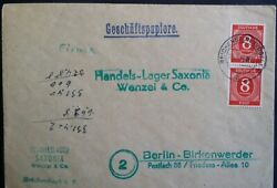 Germany 1946 Deutche Post Cover 8pfg Reichenbach Commercial Post to Berlin