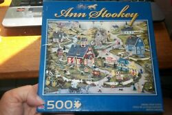 The Art Of Ann Stookey May Day At Singing Creek School 550 Piece Puzzle  EUC $20.80