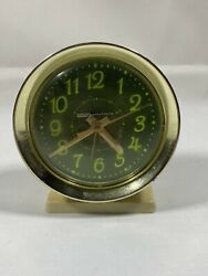 Vintage Living Solutions Wind Up Alarm Clock Green Glow NOT Tested SOLD AS IS $14.99