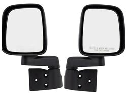 03 04 05 06 JEEP WRANGLER TJ FRONT DOOR MIRRORS NEW Black Left & Right PAIR $58.00