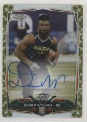 2014 Topps Chrome STS Camo Refractor 99 Damien Williams #220 Rookie Auto $29.29