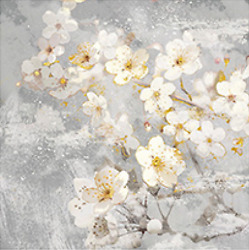 White Flower Art Wall For Home Decor Ready Hang Florescent Painting $24.99