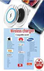 Fast IQ Portable wireless charger quick charging pad LED for Iphonesamsung+more $8.95