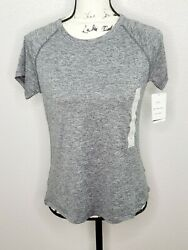 Champion C9 Duo Dry Everyday Women#x27;s Black Heather Cloud Knit Athletic Shirt New $11.69