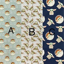 NEW BABY YODA Star Wars choose your print 100% Cotton Fabric FAT QUARTER 18quot;x21 $8.95