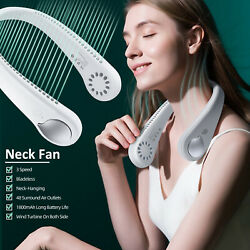 USB Portable Hanging Neck Fan 2 In 1 Air Cooler Mini Electric Air Conditioner $34.96
