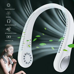 USB Portable Hanging Neck Fan Cooling Air Cooler Little Electric Air Conditioner $13.97