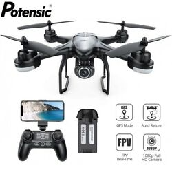 Potensic T18 Drone 1080P HD Camera RC Quadcopter Dual GPS FPV Drones One Battery $119.99