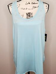 Champion C9 Women#x27;s Duo Dry Training Iced Blue Athletic Stretch Tank Top New $15.29