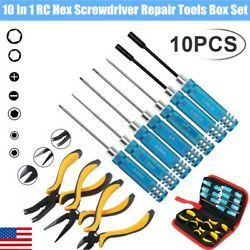 10 in 1 Hex Screwdriver Repair Tools Box Set Kit For RC Car Drone Helicopter Toy $31.34