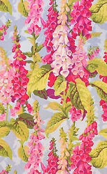 HALF YARD Westminster Kaffe Philip Jacobs Fox Gloves Spring Lt Blue $42.72
