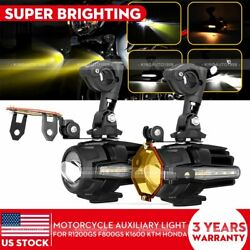 Motorcycle LED Auxiliary Lights Spot Driving Light Turn Signal DRL For BMW Honda $89.99