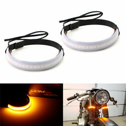 1 Pair Bright LED Fork Strips Turn Signal Lights SMD for Motorcycle Universal US $7.99