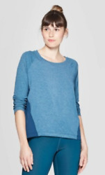Champion C9 Duo Dry Women#x27;s Airo Blue Breathable Long Sleeve Athletic Shirt New $13.49