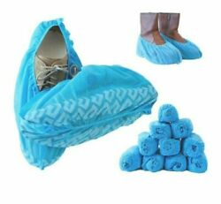 100pk Wearable Disposable Anti Skid Durable Non Woven Fabric Shoe Cover $12.95