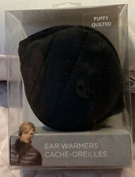 Degrees by 180s Puffy Quilted Ear Warmers Black Earmuffs $12.00