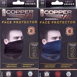 Copper Fit Guardwell Face Protector Mask Charcoal or Blue Reusable $16.25