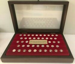 Franklin Mint- 44 Silver Mini-Coin Collection The Kings and Queens of England $95.00