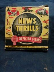 NEWS THRILL - 1943 VOL. 2 - TOKYO BOMBED AXIS SURRENDERS IN TUNISIA  - 8MM FILM  $5.99
