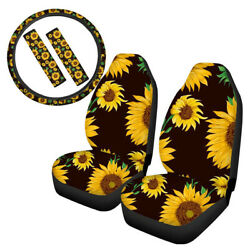 US Car Front Seat Cover Sunflower Protector Comfort Cushion Interior Accessories $32.98