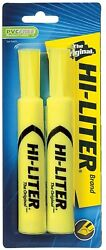 Avery Hi Liter Desk Style Highlighter Chisel Point Yellow 2 ea Pack of 4 $10.00