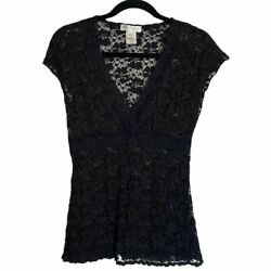 White House Black Market Large Lace Top  $23.00