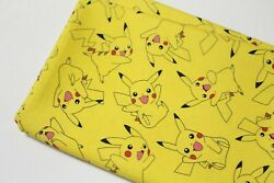 Half Yard Pokemon fabric Pikachu Character Fabric cotton Fabric laceking  $7.50