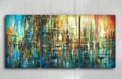 Painting Original Abstract Art Modern Contemporary Decor Mix Lang cert. unique $1295.00