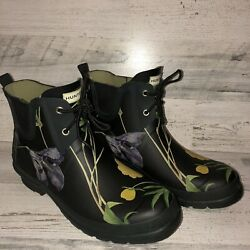 Hunter Limited Royal Horticultural Society Garden Rain Boots Floral Sz 9 EU4041 $39.99