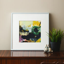 FRAMED Art print abstract landscape wall decoration contemporary room decor $59.00