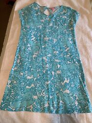 Lilly Pulitzer Girls Shorely Blue She's A Fox Dress