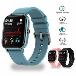 Sports Smart Watch Blood Pressure Blood Oxygen Heart Rate Monitor Remote Camera $25.99