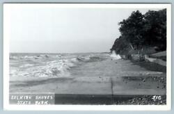 RPPC SELKIRK SHORES STATE PARK*NEW YORK*BEACH*SEA WALL*WAVES*OCEAN*1940#x27;s ERA $24.50