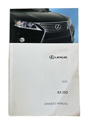 Lexus 2015 RX 350 Manual $35.00