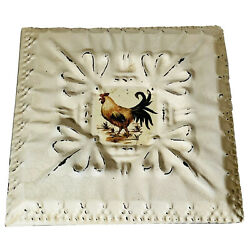 Rustic Rooster Pictures 2 Farm House Decor Western Hanging Plaques 10x10 Inch $24.99